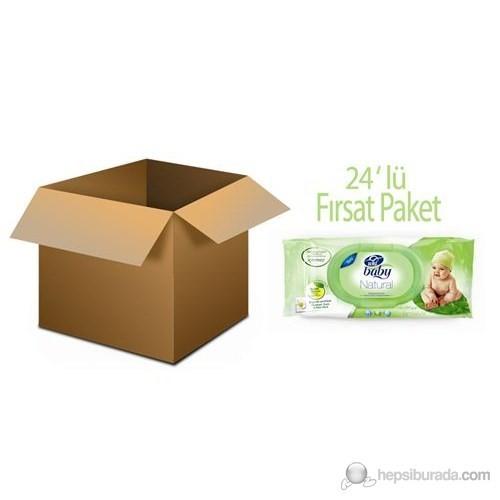 Uni Baby Natural Islak Pamuk Mendil 24'lü Fırsat Paket