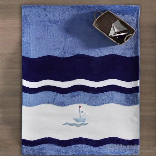 Kidboo Blue Marine Bebek Odası Halısı 120X180 Cm