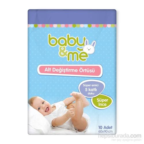 Baby&Me Süper İnce Alt Değiştirme Örtüsü 10 Adet 60*90