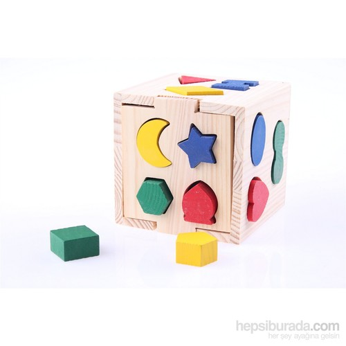 Wooden Toys Wooden Geometrical Blocks