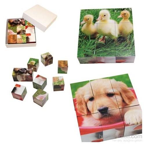 Beleduc Küp Puzzle - Bamboo Cubes