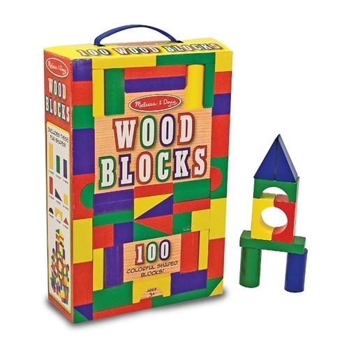 Melissa&Doug Ahşap Blok Seti - 100 Parça