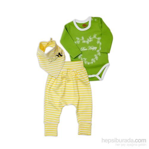 Şalvar Takım- Bee Happy - Yeşil Sarı