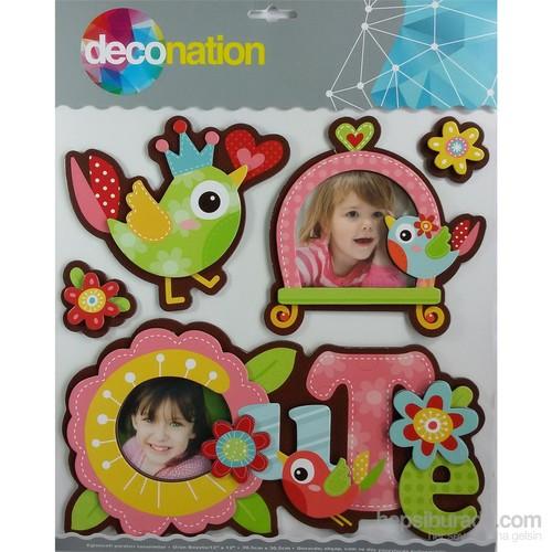 Stic&Stic Sevimli Kuş Neşeli Çerçeve Sticker