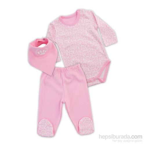 Baby Corner Pantolon Takım Çita Pembe Ekru