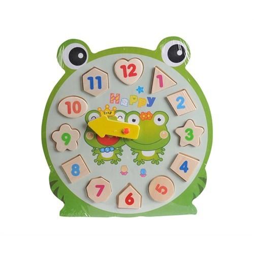 Engin Oyuncak Ahşap Eğitici Saat Oyuncak