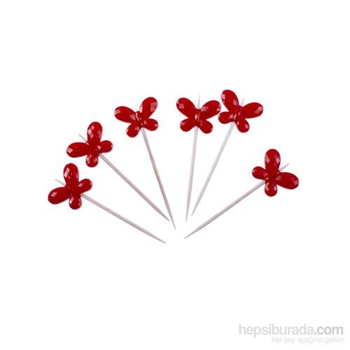 KullanAtMarket Kırmızı Kelebek Kürdan
