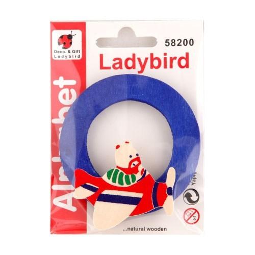 Ladybird Bebek Odası Ahşap Dekoratif Harfleri O