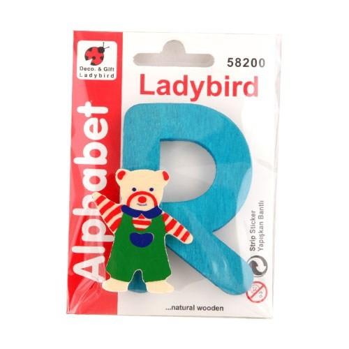 Ladybird Bebek Odası Ahşap Dekoratif Harfleri R