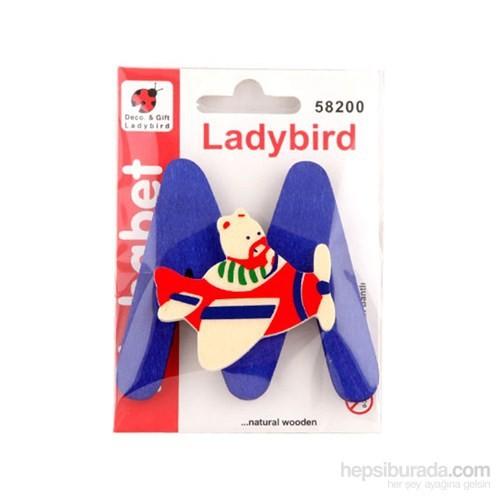 Lady Bird Dekoratif Harf M