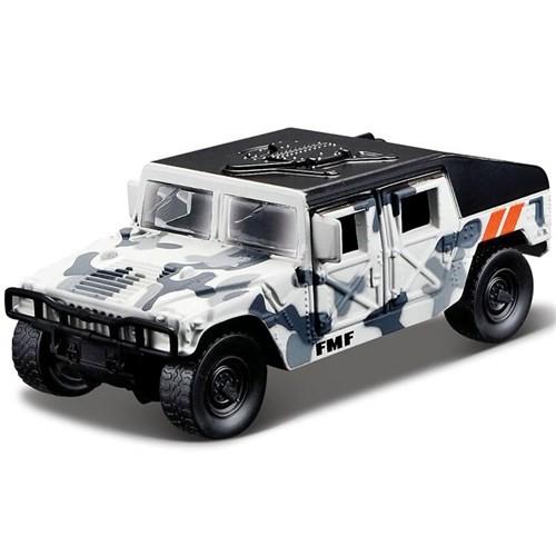 Maisto Metal Forces Askeri Savaş Aracı Jeep Humvee 10 Cm Beyaz Kamufla