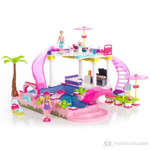 Mega Bloks Barbie'nin Havuz Partisi 159 Parça Oyun Seti