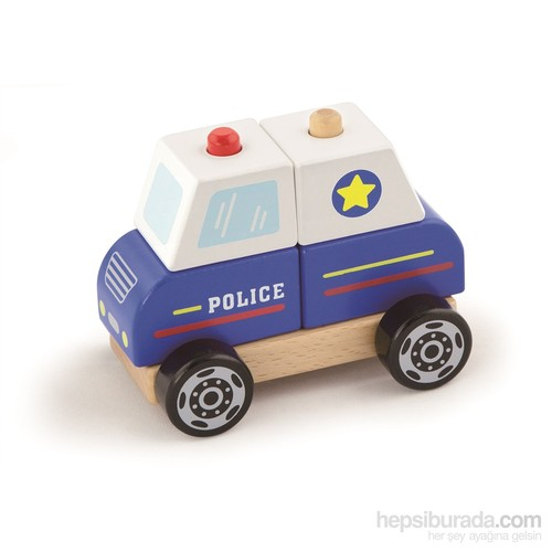 Vıga Toys Ahşap Polis Arabası
