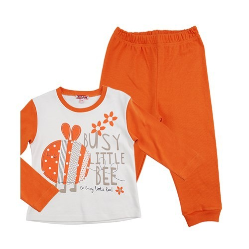 Zeyland Kız Çocuk Oranj Pijama Takim K-52Z602pjm403