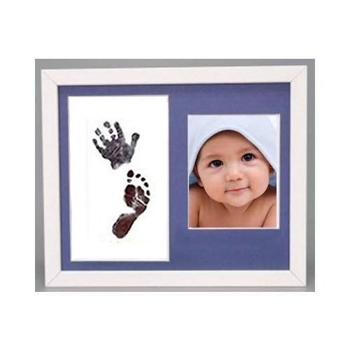 Küçük İzler Beyaz Çerçeveli Resimli İnkless Wipe El-Ayak İzi Alma Kiti
