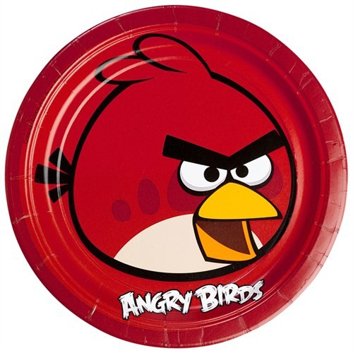 Angry Birds Tabak 23 Cm 8 Adet