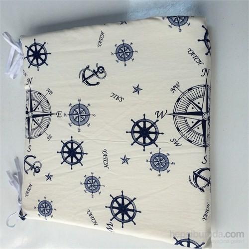 Deran Home Sandalye Minderi Kare Denizci 4 Adet Set-Sünger