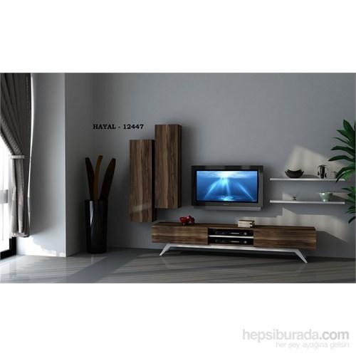 Hayal 74412 Tv Ünitesi Leon Ceviz/Parlak Beyaz