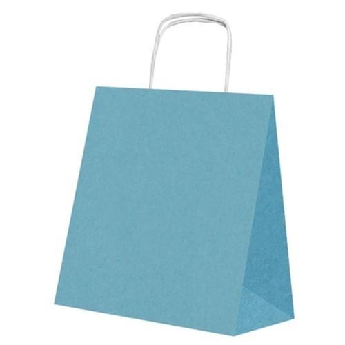 Pandoli 25 Adet Bebek Mavisi Renk Kraft Kağıt Hediye Dağıtma Poşeti 22 Cm