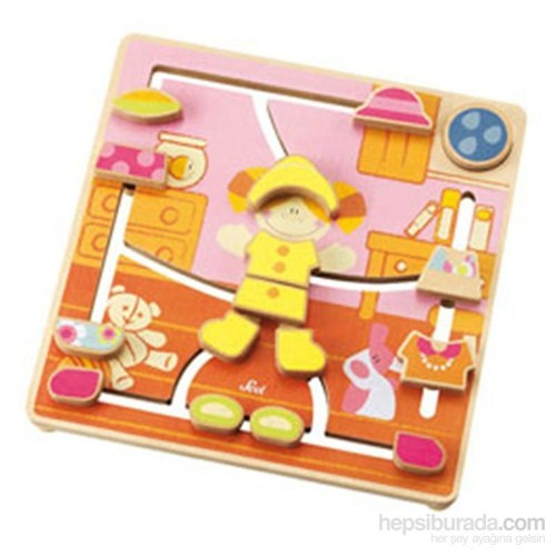 Sevi Ahşap Puzzle Labirent Moda 27 cm
