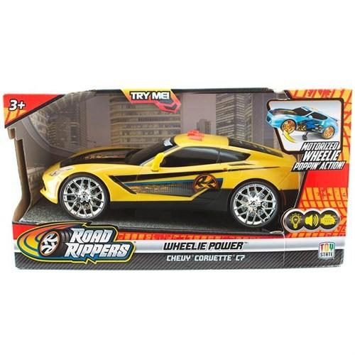 R.R. Wheelie Power Şahlanan Işıklı Ve Sesli Araba Chevy Corvette C7 Sa