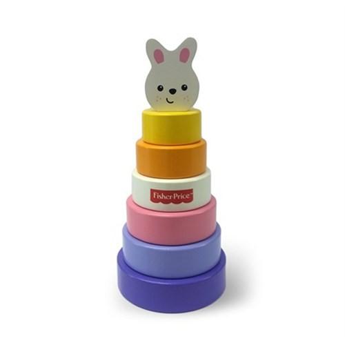 Fisher Price Ahşap Renkli Kule Tavşan