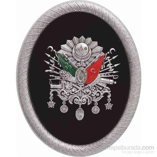 Elips Gümüş Osmanlı Arması Pano