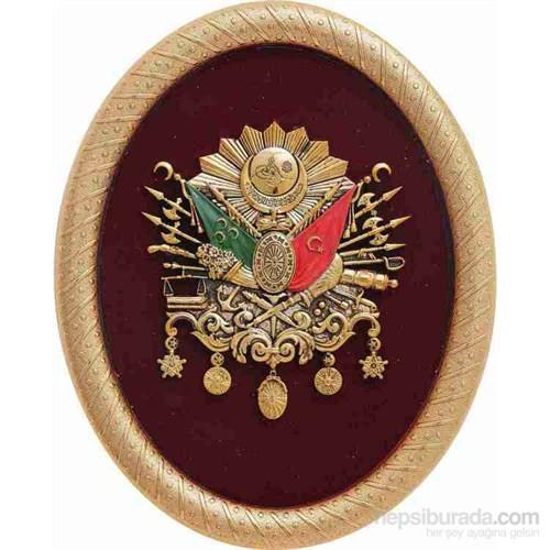 Elips Altın Osmanlı Arması Pano