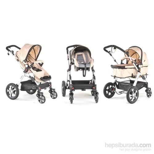 Wollex New York Bronx 2015 Model Seyahat Sistem Bebek Arabası / Krem