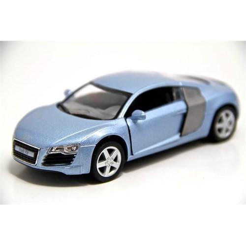Kinsmart Audi R8 1:36 Metal Çek Bırak Model Araba (Mavi)
