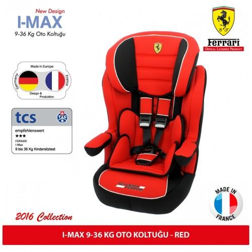 Ferrari I-Max 9-36 Kg Oto Koltuğu / Kırmızı