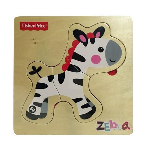 Fisher Price Ahşap İlk Yapbozum Zebra