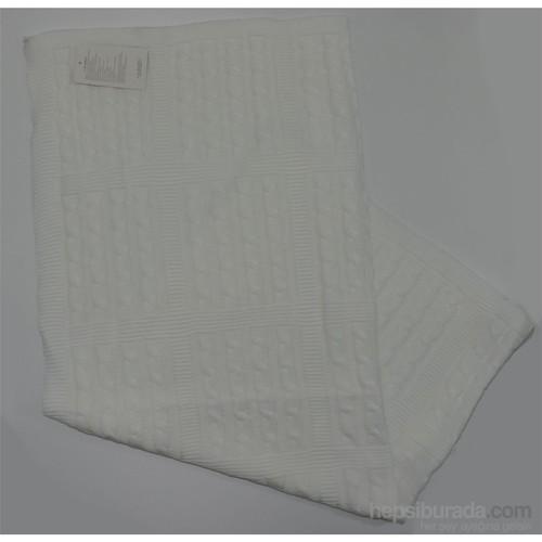 Baysem Battaniye Kuş Saç Örgülü 501 Beyaz