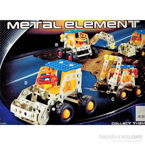Buffer 355 Parça Metal Lego İş Makinesi 4 Adet