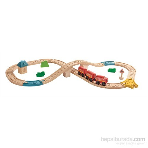 Plantoys Sekiz Şekilli Demiryolu (Railway-Figure 8 Set)
