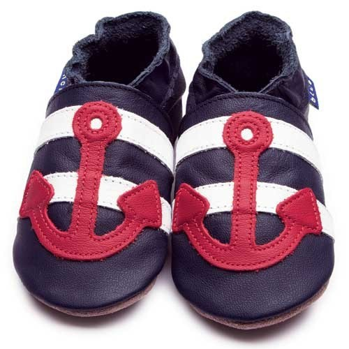 İnch Blue Hakiki Deriden Patik Sailor Navy Red