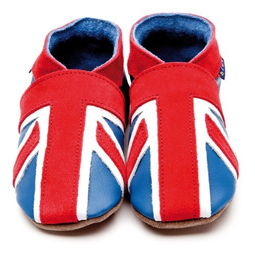 İnch Blue Hakiki Deriden Patik Union Jack Blue
