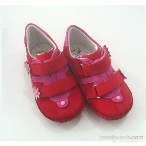 Arulens 049 Bebek Ayakkabısı Kırmızı Nubuk No:21