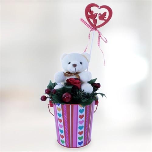 Sevgiliye Romantik Hediye Sevimli Ayıcık Kalpli Düşler