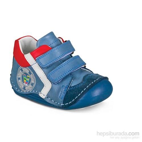Vicco Cırtlı İlk Adım Deri Ayakkabı Mavi