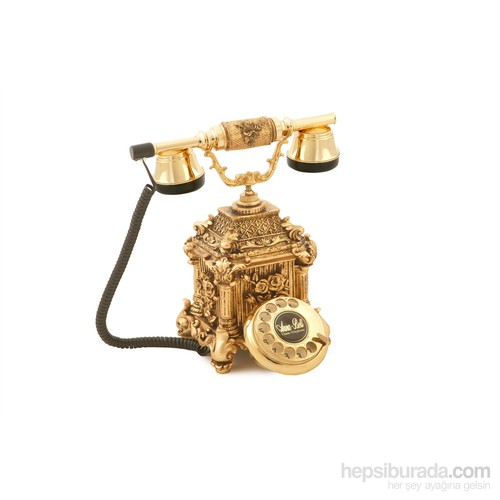 Anna Bell Dolmabahçe Altın Varaklı Telelefon