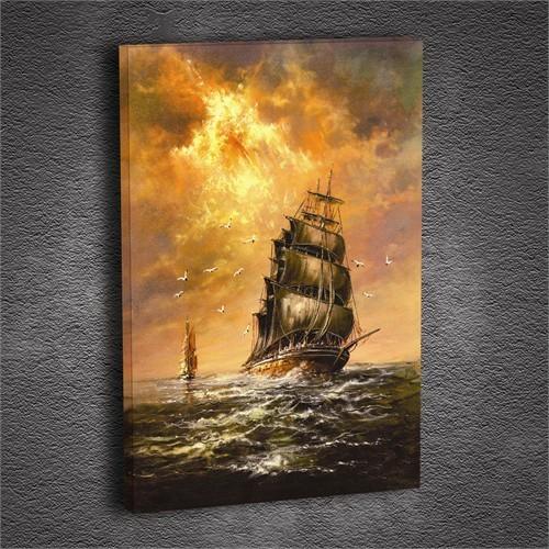 Artmoda - Kabartmalı Yelkenli Tablo