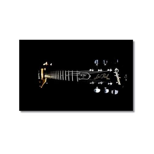 Tictac Siyah Gitar Kanvas Tablo - 40X60 Cm