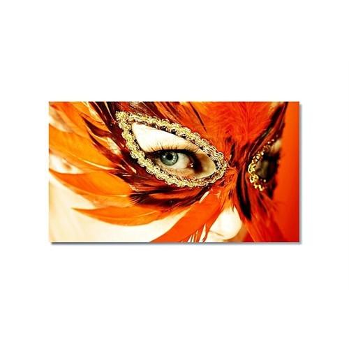Tictac Turuncu Maske Kanvas Tablo - 50X75 Cm