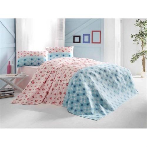 Cotton Sheets Çift Kişilik Pike Cemre Mavi