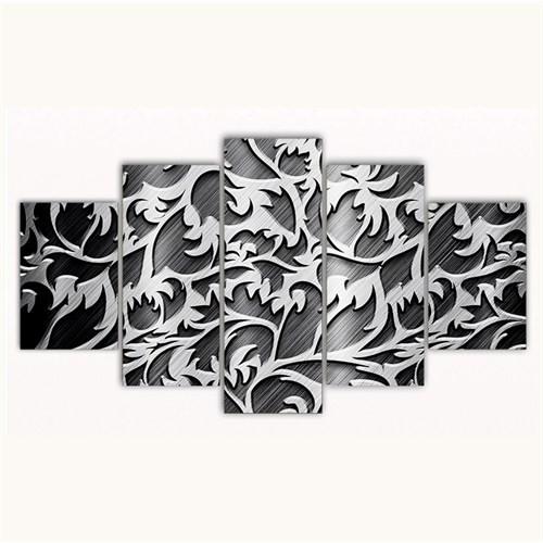 Tictac 5 Parça Kanvas Tablo - Dekoratif - 125X75 Cm