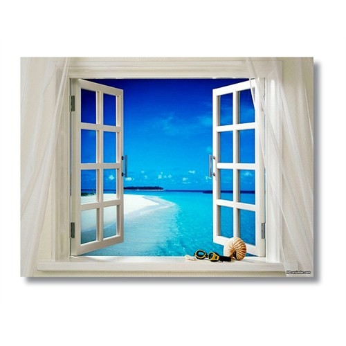Tictac Pencere - Kanvas Tablo - Büyük Boy