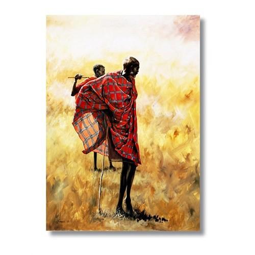 Tictac Masai Man - Kanvas Tablo - Büyük Boy