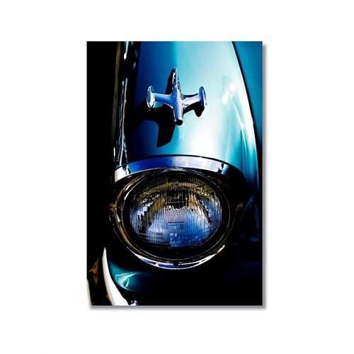Tictac Mavi Chevrolet Kanvas Tablo - 40X60 Cm