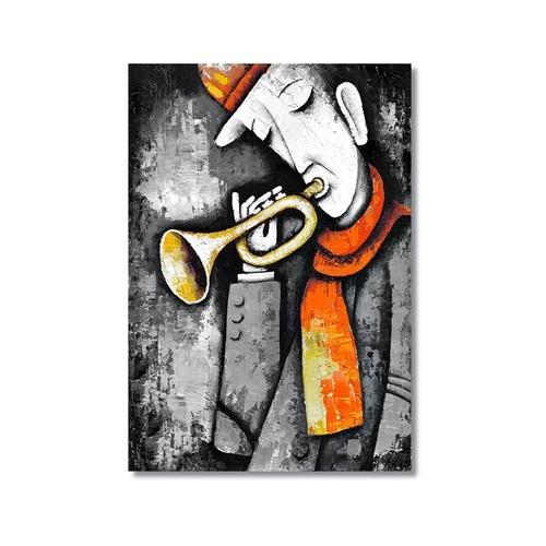 Tictac Dekoratif Müzik Serisi - Trompet Kanvas Tablo - 60X90 Cm